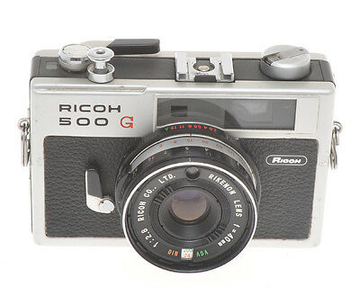 Ricoh 500G 500 G small 35mm rangefinder with 40/2.8 Rikenon, sold as is