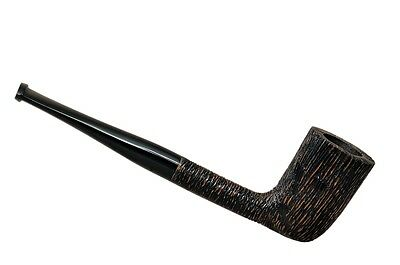 TUNDRA briar straight brushed tobacco smoking pipe from Brebbia (Italy)