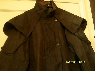 Driza-Bone Long Brown Wax Coat- Riding Etc Large Size Used Original  Australian