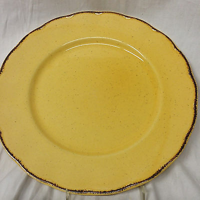 "Grindley England Colonial Classics Dinner Plate 10 1/2"" Yellow Butterscotch"