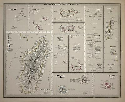 Islands Of The Indian Ocean For The Sduk Published 1844.