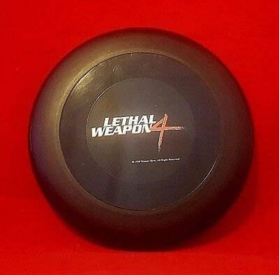 "LETHAL WEAPON 4 9"" FRISBEE Rare Movie Memorabilia Mel Gibson 90's Action Movie"