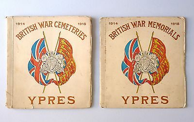 Two Vintage Books of Photographic WW1 Prints Cemeteries & War Memorials Ypres