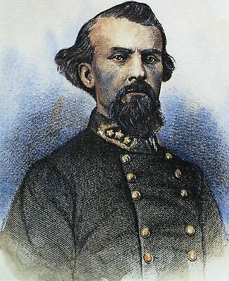 Museum Quality Color Litho Of Confederate Cavalry General Nathan Bedford Forrest