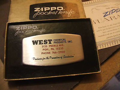 Vintage 1970's West Chemical Products Zippo Combination Knive And File