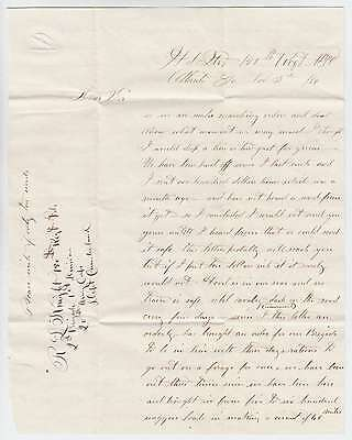 B8460: 1864 Civil War Soldier's Letter+Cover; Sherman's March