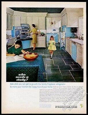 1963 Frigidaire Flair blue double oven range refrigerator washer dryer photo ad