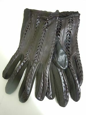 Lovely Ladies Vintage Brown Leather 'st Michael's' Gloves.