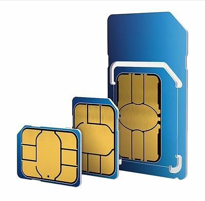 Triple cut official O2 UK Pay as you Go Combi Sim Card 2G/3G/4G