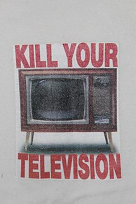 RARE Vintage 90's~Old Ghost KILL YOUR TELEVISION~Girl-Women Shirt FUCT Skater
