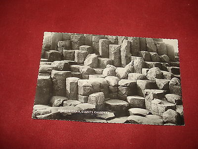 VINTAGE NORTHERN IRELAND: ANTRIM Giant's Causeway Wishing chair RP b&w