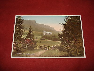 VINTAGE NORTHERN IRELAND: BELFAST Castle and Cave Hill colour tint