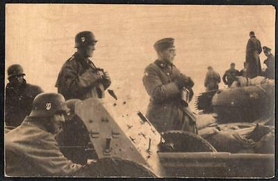 PPC pc Germany #4 = GERMAN WWII - German Nazi Soldiers at Russian Front