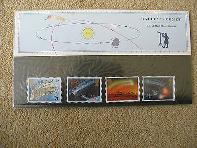 UK: Halley's Comet. 4 Stamps. Pack Number 168. Issued: 18.2.1986