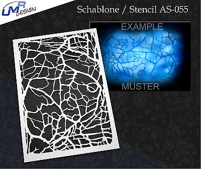 Step by Step Airbrush Stencil AS-055 M ~ Template ~ UMR-Design