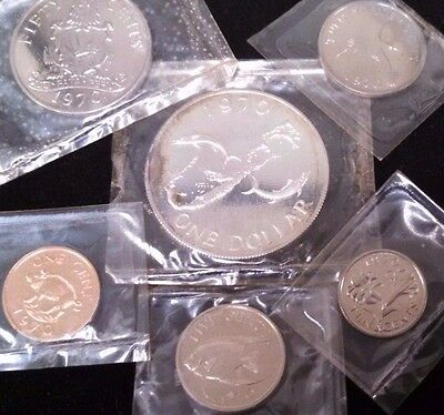 1970 Bermuda First Decimal Proof Coin Set in original plastic and box as issued
