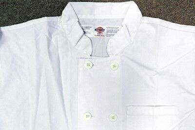 Dickies Chef Coat Jacket CW070315A Button Front White Uniform S/S XL New