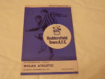 Huddersfield Town V Wigan Athletic 73/74 FA Cup Programme.