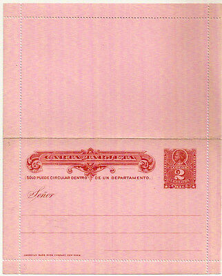 CHILE 1880s 2c CHRISTOPHER COLOMBUS RED LETTERCARD MINT UNUSED VGC