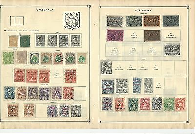 Guatemala 1871-1963 Collection on Scott International Pages, 25 Pages
