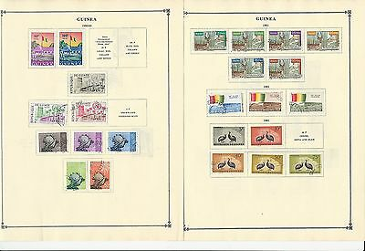 Guinea 1959-1963 Collection on Scott International Pages, 10 Pages