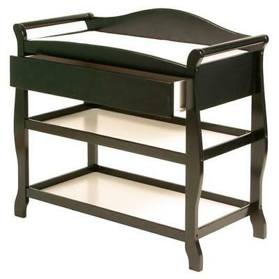 Aspen Changing Table with Drawer, Black - 00524-58B