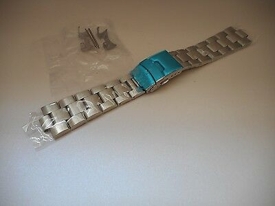 22mm Curved End Solid Stainless Steel Watch Oyster bracelet, Band Seiko SKX007K2