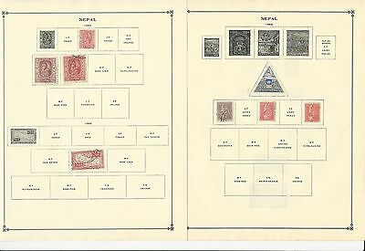 Nepal 1954-1963 Collection on Scott International Pages, 6 Pages