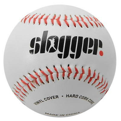 ✔ SLOGGER Baseballball Hardcork Core 9 inch zoll Baseball League Ball Weiß Rot