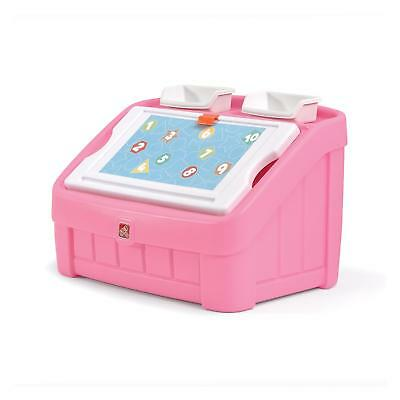 2-in-1 Toy Box & Art Lid, Pink - 848800