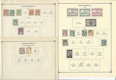Trans Jordan 1941-1962 Collection on Scott International Pages, 13 Pages