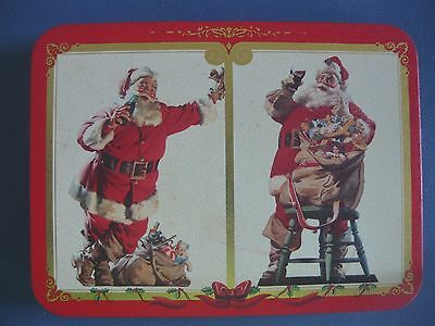 Vintage Coca-Cola Santa Claus Playing Cards In Tin