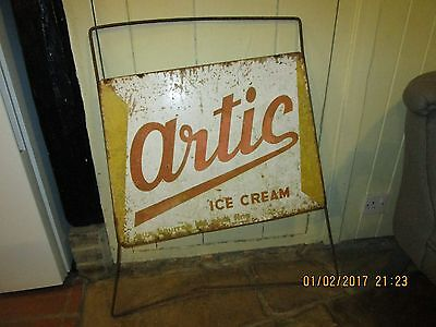 Vintage 1961 dated shop advertising sign for Artic Ice Cream