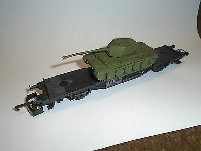 Oo Scale Lima Coupling Converter Flat Wagon With White Metal Tank Load