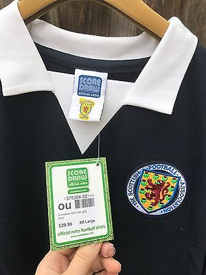 Score draw  the scottish football official retro football shirt size xxlarge