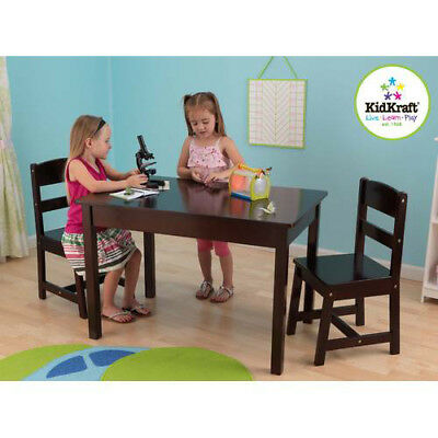 Rectangle Table & 2 Chair Set, Espresso - 26680