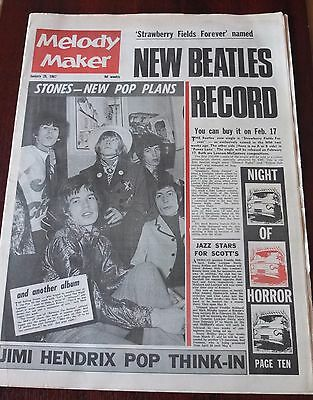 Melody Maker January 28 1967 Beatles Stones Hendrix Motown Cat Spoonful Dolphy