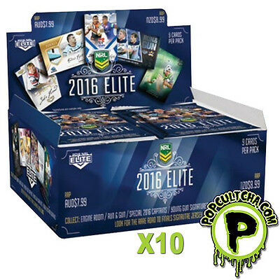 NRL 2016 RUGBY LEAGUE - Elite Trading Cards Box Factory Sealed Case (10ct) #NEW