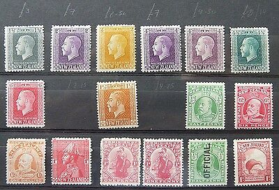 New Zealand: high value collection of early mint stamps (6 photos)