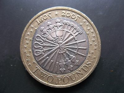 £2 Great Britain 2005 Circulated Coin Guy Fawkes 400 Yr Remember 5Th November