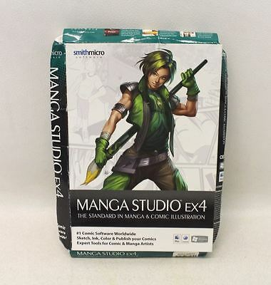 BNIB SMITHMICRO Manga Studio EX 4 Comic Illustration Software Kit For PC & Mac