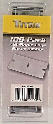 Titan 11038 100 Pack Single Edge #12 Razor Blades