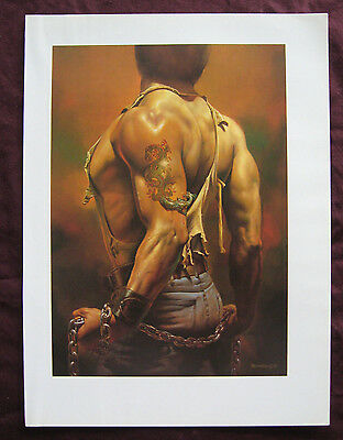 Boris Vallejo~Fantasy/Pin Up~Male-with Dragon Tatto