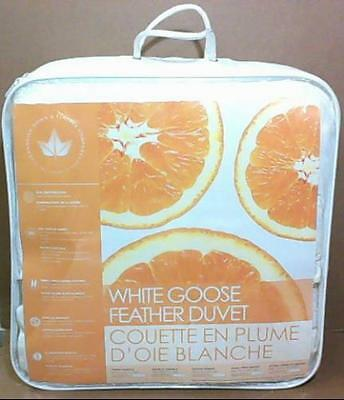 NEW Canadian Down & Feather 233TC White Goose Feather Duvet King $150