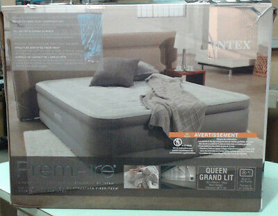 Intex 64473CA PremAire Elevated Airbed with Built-in Electric Pump Queen $66