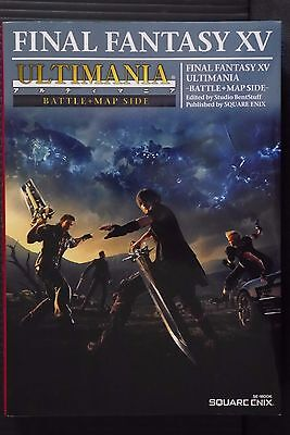 "JAPAN NEW Final Fantasy XV Ultimania ""Battle + Map Side"" Guide Book"