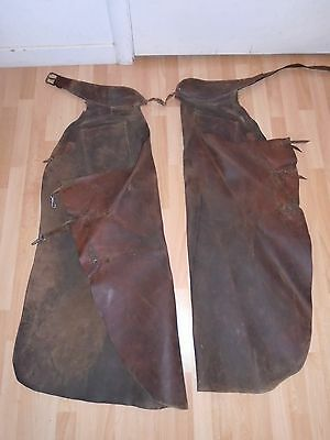 1920s Hollywood Silent Western Movie prop vintage LEATHER BATWING CHAPS