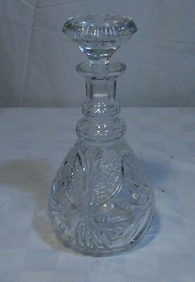 CUT GLASS Crystal Decanter with SToppER Rounded bottom
