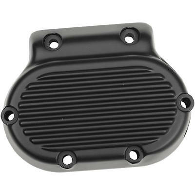 DS Transmission Side Cover Ribbed Black Harley FLHRCI Road King Classic 98-06