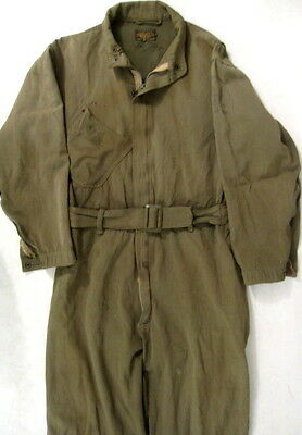 WWII Era USAAF Army Air Force Type A-4 Summer Flying Suit OD Green - Size 38